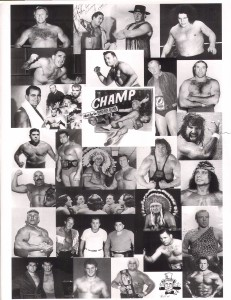 Collage of wrestlers